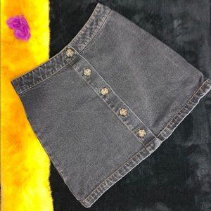 Forever 21 Black Denim Mini Skirt